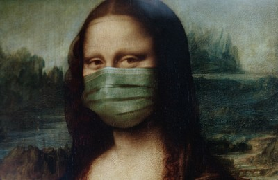 Mona Lisa With Face Mask 3957982